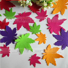 Mixed  Size Muliticolor 10pcs/Set Craft Felt Embellishment,  Maple Leaf For Decoration Accessories Free Shipping