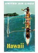 Hawaii Boat Competition Vintage Travel Surf Beach Poster Retro Decorative DIY Wall Stickers Art Home Bar Posters Decor Gift