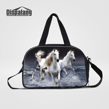Dispalang Men Travel Bags Tote Carry on Luggage Bag with Shoes Storage Animal Horse Duffel Bags Tote Large Weekend Bag Overnight(China)