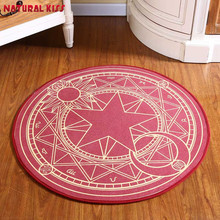 100cm Pink Japanese anime Sakura Magic Circle Children Round area Bedroom Carpets Cartoon Child climb pad Computer Puzzle Mats