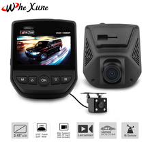 "WHEXUNE Car DVR 2.5"" LCD Screen WIFI Novatek 96658 FHD 1080P Dual Lens Sony IMX323 Car Video Recorder Dash Cam With Rear Camera(China)"