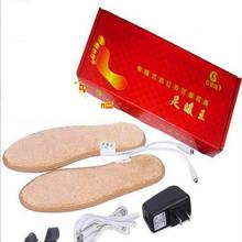 Electric Heated Insoles USB Charging Heated Rechargeable Insoles For Shoes Pad Boots Keep Feet Care Warm Christmas Gift 1 Pair(China)