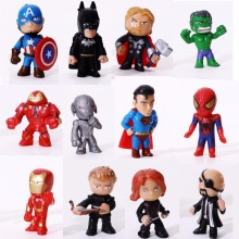 12 Pcs/Lot The Avengers Marvel Toys Superheros Minifigures toy hulk Captain America superman batman thor Iron man