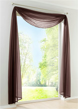 New Sheer Voile Window Scarf Curtains Fashion European curtain valance 1PCS(China)