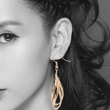 2 Pairs Women Earrings Girl Classic Double Linear Design Twist Wave Earrings New-m15(China)