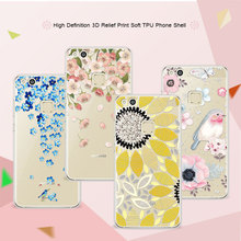 "P10 Lite 3D Art Print Case Coque For Huawei P10 Lite 5.2"" Soft TPU Flower Lace Relief Phone Cases Cover For HuaweiP10 lite Funda"