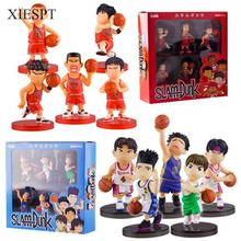 XIESPT 5pcs/set Anime Slam Dunk PVC Action Figure Toys Doll in Color Box Kids Birthday Christmas Gifts Free Shipping
