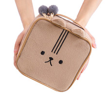 Cute Bear Travel Cosmetic Bag Cartoon Rabbit Girl's Mini Pouch Wash Makeup Tools Organizer Case Box Accessories Supplies Product(China)