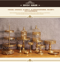 wedding decoration Gold Wedding Dessert Tray Cake Stand Cupcake Pan Party Supply 12PCS / Set ,The cake table free shipping