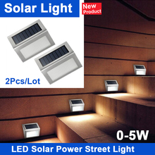 2Pcs Stainless Steel 3LED Solar garden Light Lamps for Outdoor Illuminates Stairs Paths Deck Patio LED Solar Power Street Light