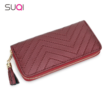 SUQI Tassel Pu Women Wallet Fashion Wallet For Women Purse Luxury Designer High Quality Famous Brand