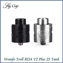 Original Wotofo Troll RDA V2 25mm Atomizer with 510 Thread Huge Vapor Troll 25 RDA V2 Top Electronic Cigarette Tank