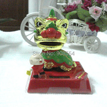 Wholesale 4 Pieces Per Lot  Swing Under Full Light  Solar  Christmas Gift  Novelty Toys Solar Powered Dancing Lion Dolls