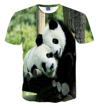 Lovers clothes mens t-shirt animal panda printed 3d t shirt homme short-sleeve casual t-shirts for men and women