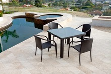 SIGMA all weather wicker furniture outdoor dining set rattan garden table and chairs