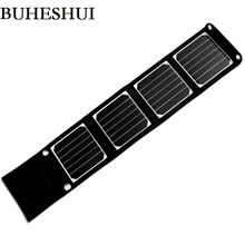 BHUESHUI 14W Portable Solar Panel Charger For iPhone/Mobile Phone/MP3 Camping/Travel Foldable Dual USB Battery Charger Sunpower