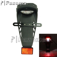 PAZOMA Free Shipping Motorcycle Tail Light Enduro Trailbikes LED Rear Fender number plate Holder For YAMAHA WR CRM YZF 250 450(China)