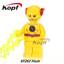 Single Sale X-Man Black Red Yellow Flash Green Lantern Super Heroes Bricks Building Blocks Collection Toys for children KF262