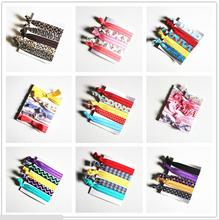 Pretty Knot Elastic Hair Tie Hairband Rubber Band Ponytail Holder Bracelets Silk cloth knotted headwear hair accessories simple(China)