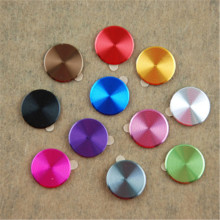 3 PCS Aluminizing Metal Home Button Sticker Decal Multi-color for iPhone 4 4S 5 5C