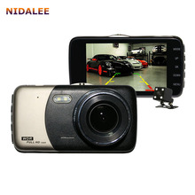 NIDALEE 4.0 inch Car DVR Dual Camera with Night Vision Waterproof Rear View Camera Parking line 1080P Auto Registrator Dash Cam