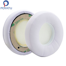 POYATU Earpads Pair White For Beats Solo 2 Solo 2.0 Wired Headphones Replacement Ear Pads Earpads Foam Cushion Soft 1 Pair