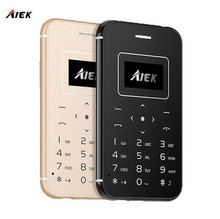 Ultra Thin Card Mobile Phone AIEK/AEKU X8 Mini Pocket Students Personality Low Radiation For Children Phone(China)