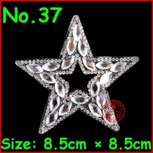 "1 pcs/Lot NEW White ""Star"" Hotfix Rhinestone Motif Iron on Crystal Patch For Women Bride Wedding Dress Clothes DIY Accessories"