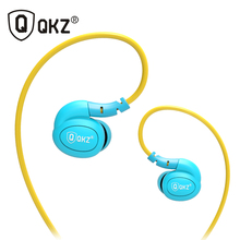 QKZ DM100 Sports Earphones Running With Memory Wire Waterproof IPX5 With Mic In-ear Earhook Music Headset Mobile Stereo Bass(China)