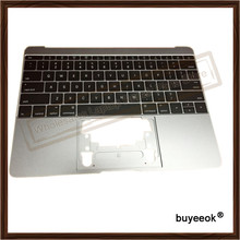 "Original A1534 Grey Top Case With US Keyboard for Macbook ""Core M"" 12"" A1534 Top Case US Layout MF865 topcase No Touchpad 2016"