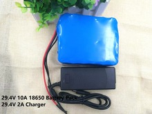 24V 10 Ah 7S5P 18650 Lithium Battery 29.4 v Electric Bicycle Moped /Electric/Lithium ion Battery Pack +25.2V 2A Charger(China)