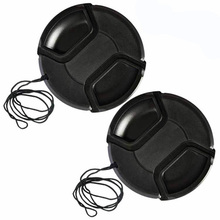 10pcs/lot 49 52 55 58 62 67 72 77 82 86mm center pinch Snap-on cap cover for all camera Lens without logo(China)