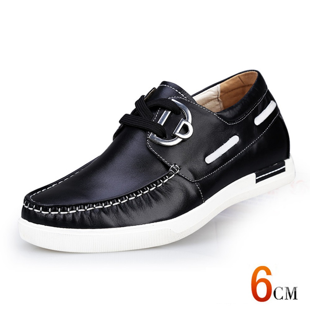 Spring/summer 6cm Height Increasing Shoes Genuine Leather Casual Shoes Breathable Elevator Shoes Sport  Casual Shoes for men<br><br>Aliexpress