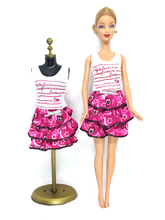 NK One Set Doll Clothes Handmade Fashion Lady Outfit Skirt Clothes For Barbie Doll Baby Toys Best Gifts
