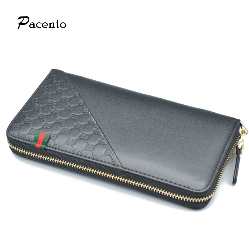 Male Clutch Phone Hand Bags Long Mens Wallet Purses Men Luxury Brand Leather Genuine Wallets Carteira Masculina Hombres<br><br>Aliexpress