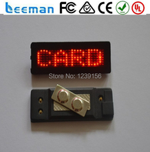 mini led text sign digital electronic matrix red led name badge tags card from LEEMAN DISPLAY TECHNOLOGY LIMITED