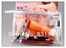 Clear Cosmetic Bag Travel Case Purse Makeup Organizer Airport Zip Pouch Hand Bag(China)