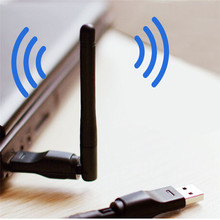 2017 New Mini 150Mbps Wifi Adapter 802.11b/n/g USB Wi-Fi Network LAN Card 2dBi wifi antenna adaptador PC Laptop Receiver