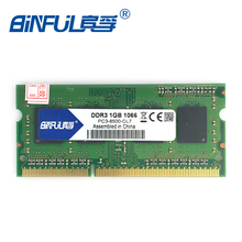 Binful Original New Brand DDR3 PC3-8500 10600 12800 1GB 1060mhz 1333mhz 1600mhz  for laptop RAM Memory 204pin for Notebook