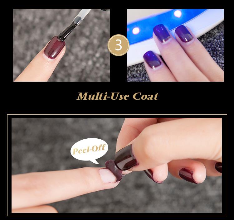 Peel Off Gel Base Coat For Nail Art UV LED Gel Nail Polish No Need Remover Water Multi-Use Primer Gel Varnish 10ml-7