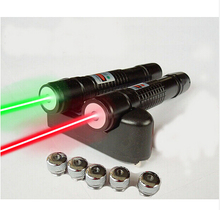 5in1 high power green/red laser pointer 200mw powerful adjustable focus burning match lit cigarette with 5 laser heads+battery