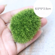 Fake Mini Green Moss Stone For Micro Landscape Garden Ornaments Nature Fake Turf For Decor Gardening Tools Bonsai Display