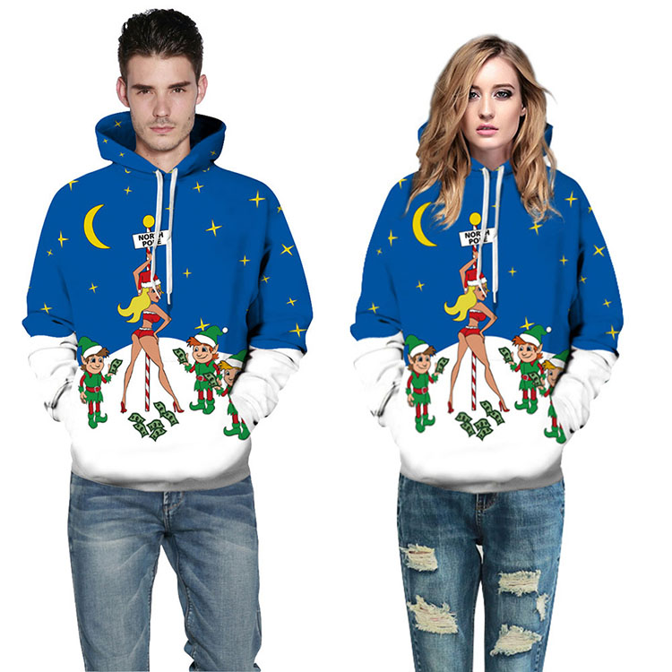 Aolamegs Men Women Chirstmas series Hoodies Couples Hooded Sweatshirts Funny 3D printing Pullovers Christmas Casual Tops Clothes (8)