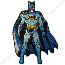 "4.5"" Batman Comic Book Style Standing Uniform Logo Animated Movie TV Series Costume Embroidered Emblem applique iron on patch"