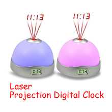 7 Colors Starry Digital Clock Magic LED Projection Alarm Clock Night Light Color Changing Home Decor Alarm Clocks 9.8 x 6.2cm