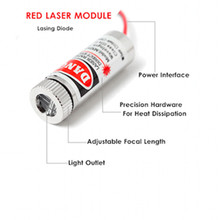 Red Cross Laser Module 650nm 5mW Diodes Laser Pen Focusable Device Adjustable Laser Head Unit 5V Lasermodul Industrial Grade DIY