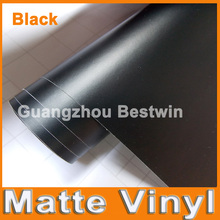 30M a lot free shipping high quality black matte vinyl car wrap vinyl car sticker film with air release bubble free