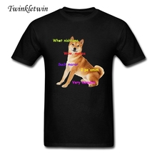 Latest Fashion Cool Doge Shiba Inu T-shirt Men Cotton Crew Neck Plus Size T-shirts Young Guys Hip Hop Short Sleeves In Summer