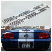 10pcs/lot For Ford Mustang Cobra GT500 Shelby Lettering Rear Trunk Decklid Emblem Badge Stickers