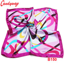 Fashion Printed Abstract geometric patterns Head scarf Silk 50x50cm Accessories Square Scarve neckerchief Fashion Ladies bb150(China)
